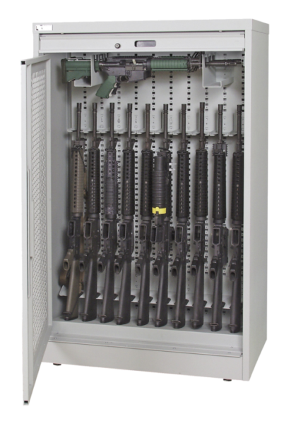 60 Inch Weapon Storage Cabinet - Grey Transparent