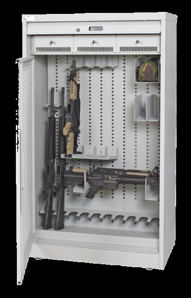 66 Inch Weapon Storage Cabinet - Grey