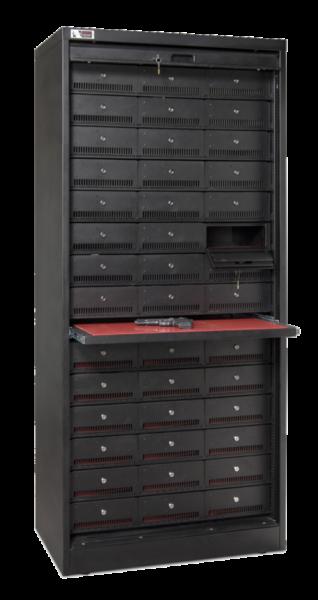 72 Inch Weapon Storage Cabinet - Black Transparent 3
