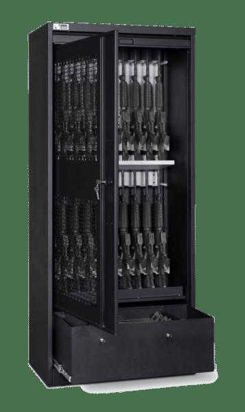 83 Inch Weapon Storage Cabinet - Black