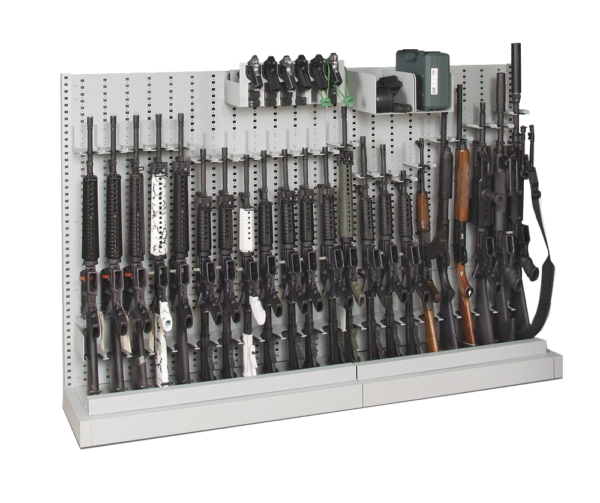 Single-Sided_Expandable Weapon Rack - Transparent