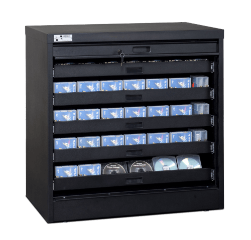 36 Inch Secure Media Cabinet - Transparent 500px