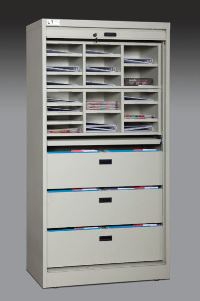 72 Inch Tall Secure Media Cabinet 500px