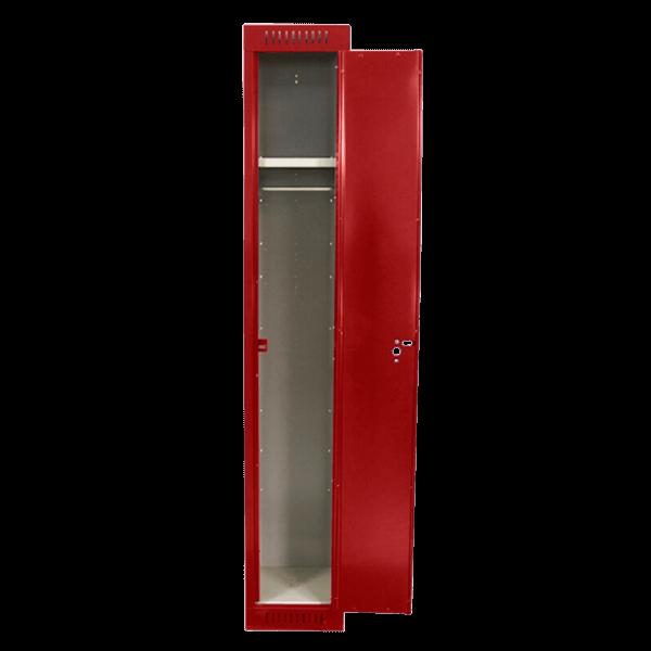 Excaliber-Locker-Open-Red-Transparent Square